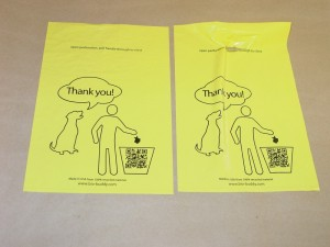 dog waste bag closure