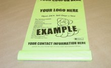 Removable Coupon Dog Waste Bags-200 Count Dog Park-Rolls-Custom Printed with Attached Advertising Coupon-Click for Pricing