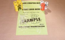 Removable Coupon Small Roll Dog Waste Bags-15 count rolls-Click for Pricing