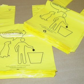 hanging dog waste bags